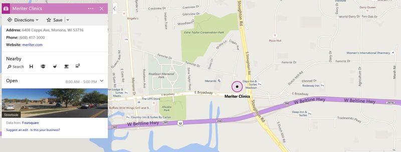 Map meriter